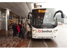 Swebus buss vid Cityterminalen