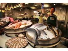 Laks og skrei, fiskehandler, madrid