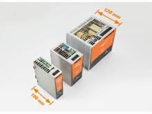 ProEcos kompakta design sparar upp till 50 % skåpsutrymme