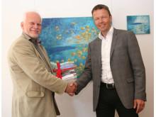 Lennart Ljungblom, Bioenergy International och Gustav Melin, Svebio