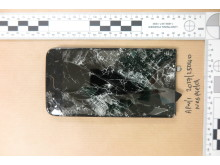 Abdul's smashed iPhone screen (recovered outside the 'buyer's' block of flats)