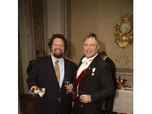 """Edward Blom och """"Royal Roger"""" Lundgren under minglet i Kungliga väntsalen"""