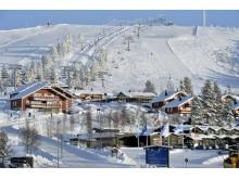 Idre Fjäll hyttebyn ski-in-ski-out