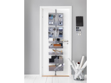 Elfa Utility Door and Wall rack i platin