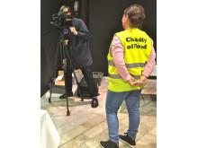 SVT Nyheterna var plats och intervjuade volontärsansvarige Jessica Ericson