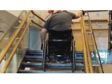 Trappetrening med rullestol