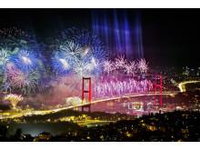 Nyår i två världsdelar i Istanbul