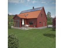 Villa Solgläntan, trädgårdsfasad