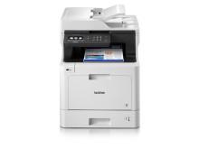 Brother DCP-L8410DCW tulostaa, skannaa ja kopioi väreissä erittäin korkealaatuisena. 31 sivua minuutissa tulostava monitoimilaite on yksi hintaluokkansa nopeimmista tulostimista.