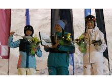 Damernas EC-pall 2017 med Thea Wallberg längst till höger på en tredjeplats