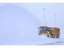 Snøfres med kapasitet til å kaste ut snø tilsvarende to personbiler i sekundet