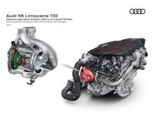 Audi S6 - elektrisk kompressor i 3.0 V6 TDI motoren