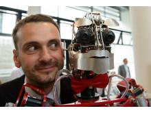 Elevator Pitch der Stiftung für Technologie, Innovation und Forschung Thüringen am 14.06.16 in Erfurt. Im Bild Ben Schaefer, H&S Robots.