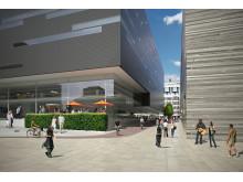 Det nye Nasjonalmuseet. Mellom byggene. Arkitekt: Kleihues + Schuwerk