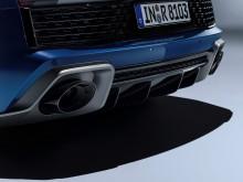 Audi R8 Coupé (Ascari Blue metallic) close-up bagfra statisk billede fra studie