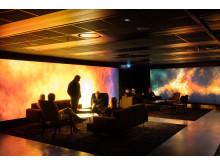 ERICSSON GLOBE PREMIUM LOUNGE, STOCKHOLM - ett av de tävlande nio projekt som tävlar om Svenska Ljuspriset i år