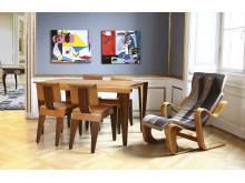Møbler af Marcel Breuer og emaljemalerier af Le Corbusier