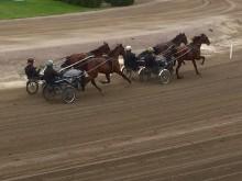 Svante Båth med personal kör träningsjobb på Solvalla