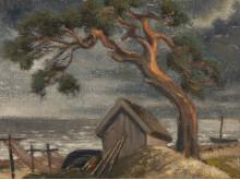 Niklāvs Strunke, Rigas strand, 1946, olja på duk