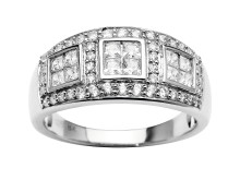 56 diamanter, 1,00 ct. - 29.998,-