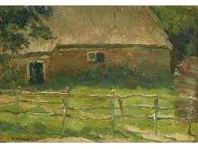 Een boerderij achter het hek, circa 1902-1904, Piet Mondriaan (1872-1944)