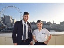 PS Matthew Ebbs with Met Police Commissioner