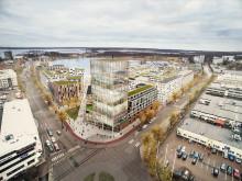 Visionsbild Tullholmsviken,  vy från Stadsträdgården