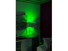 Smart belysnining i vardagsrummiljö