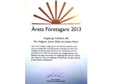 Årets Företagare 2013 - Högberga Vinfabrik