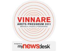 Europeiska vinnare av titeln Årets pressrum för andra året i rad!