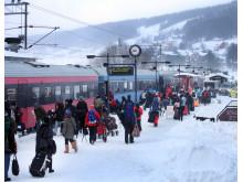 SJ Nattåg på Åre station.
