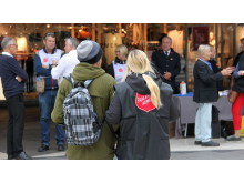 Den 12-14 augusti kommer Frälsningsarmén ut på Sergelstorg för att prata med stockholmarna..