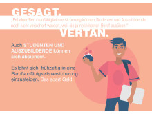 """Irrtum Nr. 4 """"Studenten und Auszubildende können nicht abgesichert werden."""""""