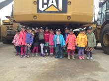 Børnehaven Skibet fra Skejby på besøg hos Pon Equipment