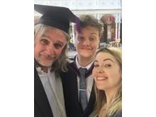 Carl with son Joe and daughter Laura, at Joe's graduation