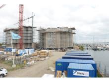 Havnefroten har en perfekt beliggenhed; lige ved Horsens lystbådehavn