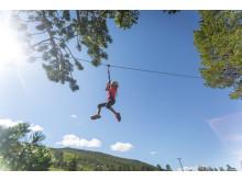 Mini-zipline i  Trollparken, Geilo Sommerpark