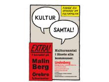 Kultursamtal i Lindesberg: Skriv ut och sprid denna inbjudan!