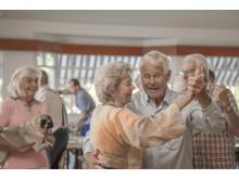 Dans på äldreboendet Liseberg utanför Stockholm