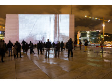Oslo Kulturnatt 2018 Videokunst på operataket foto Richard Ashton