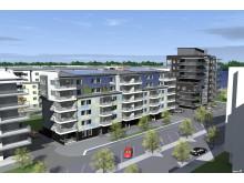 Brf Sjökortet i Västerås, gatuperspektiv