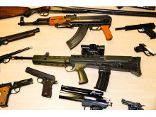 Guns seized this year - these were not seized as part of Op Kestrel.