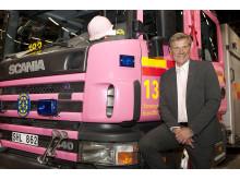Jan Wisen, ordförande för Insamlingsstiftelsen Brandmännens Cancerfond