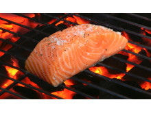Saumon de Norvège sur le barbecue