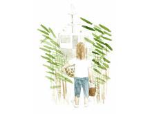 """En av Per Johansons akvareller från """"ABC för barn och pensionärer"""""""