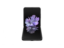 Samsung Galaxy Z Flip_front table top_black mirror