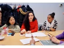 Elever på Eductus nya skola i Jönköping