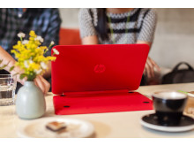 HP Pavilion x360 in media mode on table
