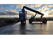 Container i hamn
