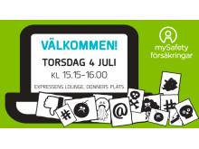 mySafetys seminarium i Almedalen 2019